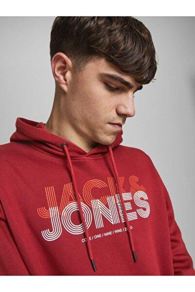Jack & Jones Jack&jones 12182465 Yazılı Kanguru Cep Kapsonlu Sweat
