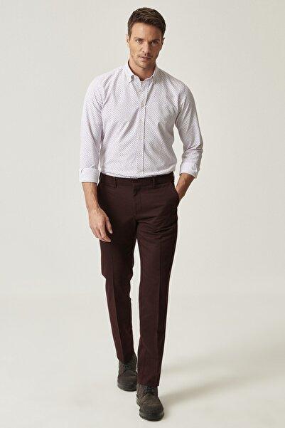 ALTINYILDIZ CLASSICS Erkek Bordo Slim Fit Casual Pantolon
