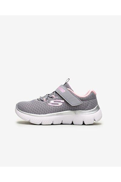 SKECHERS SUMMITS - Küçük Kız Çocuk Gri Spor Ayakkabı