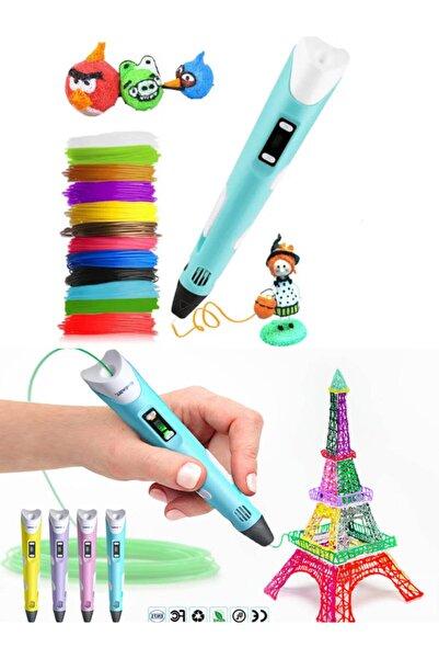 Turkish A2Z 3d Pen - Üç Boyutlu Yazıcı Kalem Printer + 3 Renk Filament