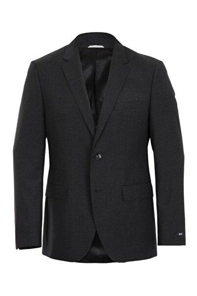 Boss Erkek Gri Yün Blazer Ceket