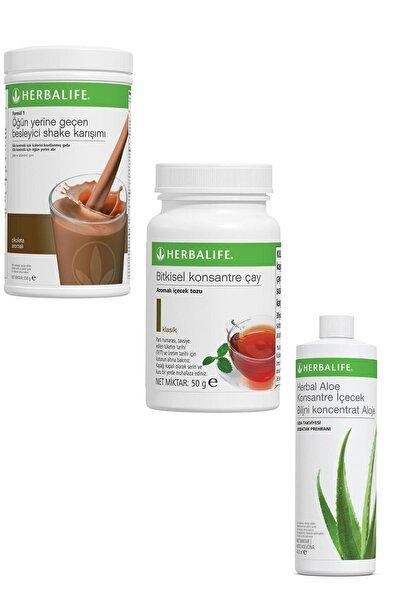 Herbalife Shake 1 Adet Çikolatalı 1 Adet Klasik Çay 50 gr Ve 1 Adet Herbal Aloe Içecek