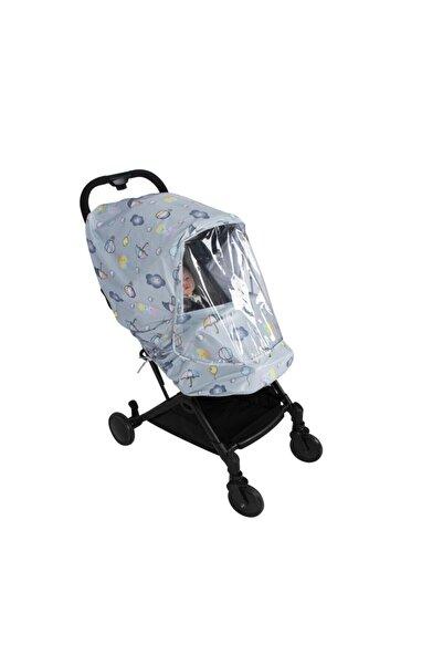 Sevi Bebe Desenli Lüks Bebek Arabası Yağmurluğu Karışık