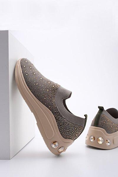 Marjin Kadın Yeşil Çorap Dolgu Topuk Sneaker