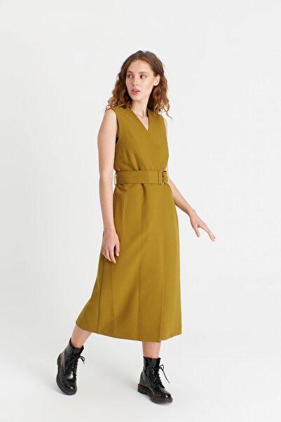 Icon Kadın Yeşil Şimal Yelek Trençkot 3150 Kb
