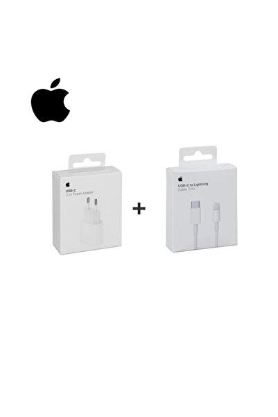 Appleline Macbook Ipad Iphone 11 / 12 - Pro Max Mini Uyumlu 20w Adaptör Kablo Usb-c Pd Hızlı Şarj Aleti