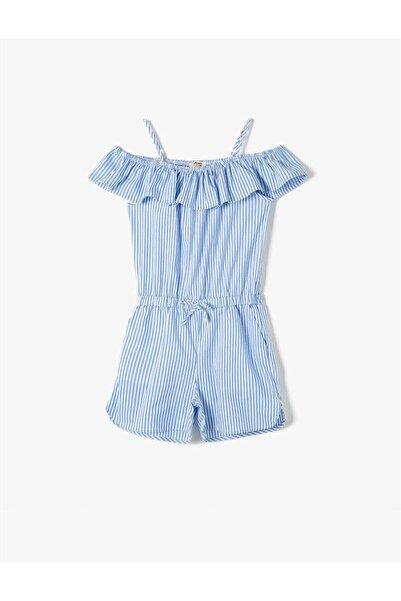 Koton Kız Çocuk Mavi Çizgili Tulum
