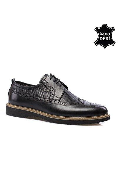maximoda Hakiki Deri Siyah Erkek Klasik Ayakkabı PRA-591260-035529