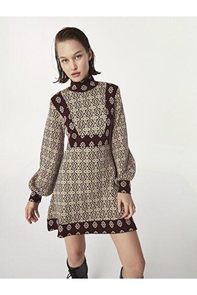 Twist Etnik Desen Elbise