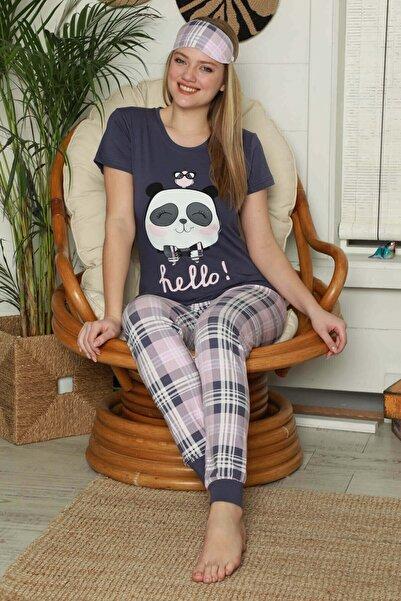 Mossta Kadın Panda Baskılı Kısa Kollu Pijama Takımı