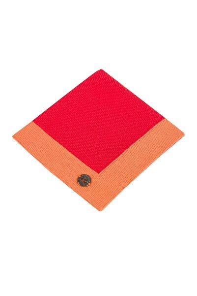 Hemington Erkek Pike Örgü Kırmızı Pamuk Cep Mendili