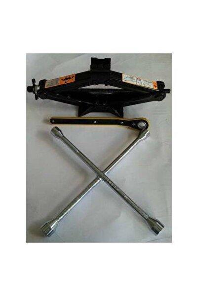 DORCAR Akardion Kriko Cırcırlı Makas Tip 1,5 Ton + Bijon Anahtarı Çelik