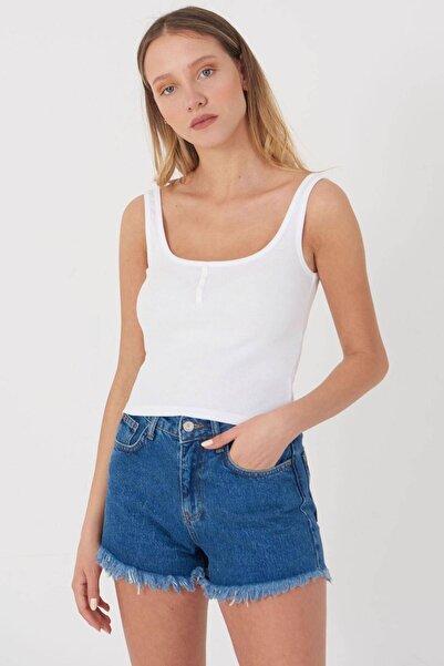 Addax Kadın Beyaz Askılı Bluz A0963 - DK11 ADX-0000022397
