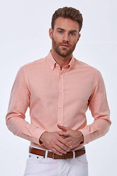 Hemington Turuncu Yazlık Oxford Gömlek