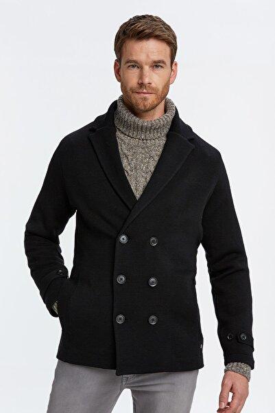 Hemington Erkek Siyah Kruvaze Triko Ceket