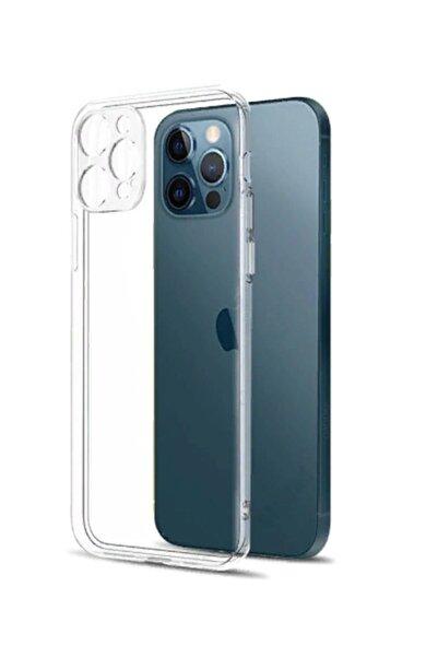 KAPAKCIMIZ Iphone 12 Pro 6.1 Uyumlu Kamera Korumalı Şeffaf Silikon Kapak Kılıf