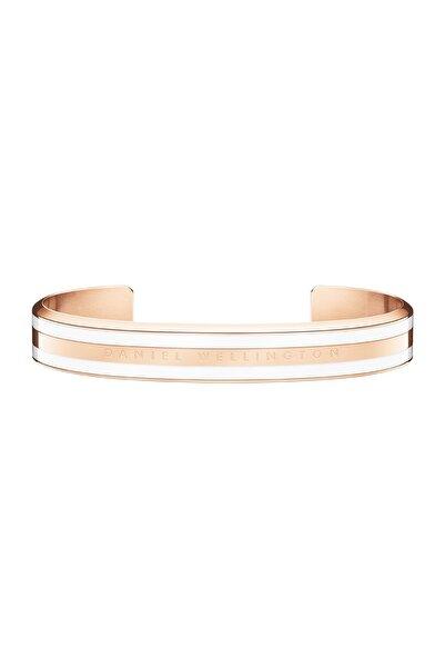 Daniel Wellington Classic Bracelet Satin White Rose Gold Medium - Unisex