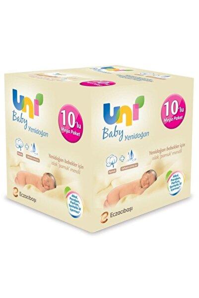 Uni Baby Yenidoğan Islak Mendil 10'lu