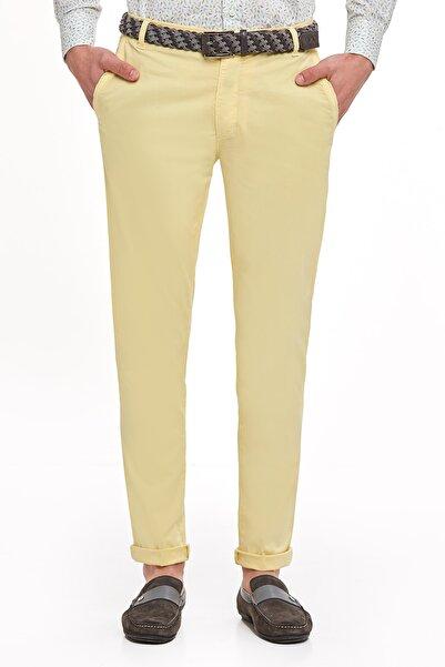 Hemington Açık Sarı Pamuk Yazlık Chino Pantolon