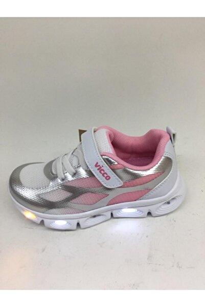 Vicco Kız Çocuk Pembe Işıklı Spor Ayakkabı