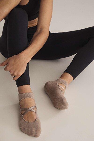 Oysho Pamuklu Yoga Ve Pilates Çorabı 2 Çift