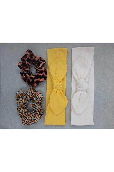 Tshigo Kadın Sarı Toka ve Saç Bandı Seti