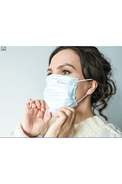 SAYTEKMED Meltblown Filtreli, Yassı Kulak Ipli, Beyaz Cerrahi Maske (50 Adet/1 Kutu)