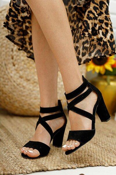 MUGGO Mglily01 Kadın Siyah Topuklu Ayakkabı