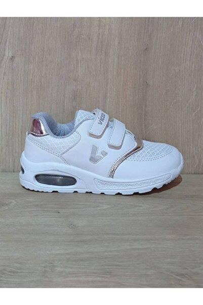 Vicco Unisex Fileli Beyaz Çocuk Spor Ayakkabı