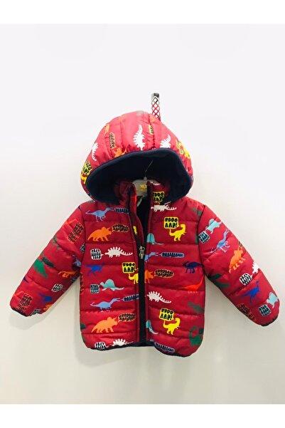 Midimod Erkek Çocuk Kırmızı Dino Baskılı Mont M20869