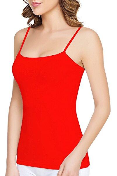 Tutku Kadın Kırmızı 6'lı İp Askılı Pamuk Atlet 0135