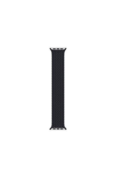 Fibaks Apple Watch Series 4 42 mm Uyumlu Siyah Medium Örgü Elastik Kordon