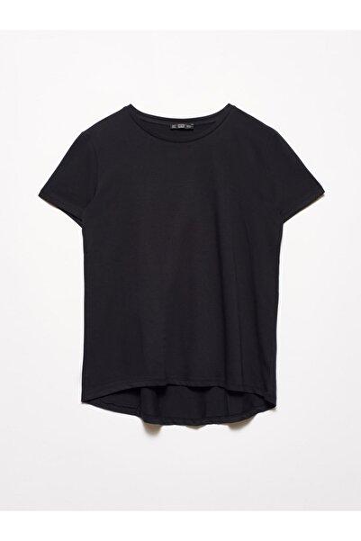 Dilvin 3471 Bisiklet Yaka Basic T-shirt-siyah