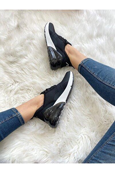 ELSESHOES Kadın Sıyah Beyaz Spor Ayakkabı