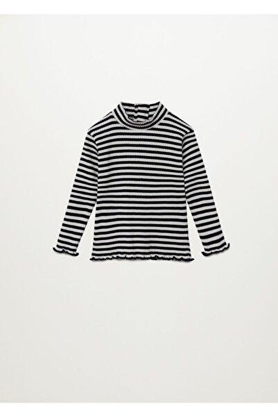 MANGO Baby Kız Çocuk Siyah T-Shirt
