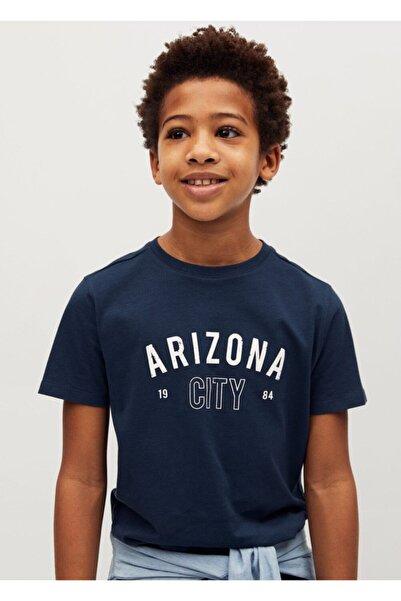 MANGO Kids Organik Pamuklu Desenli Tişört