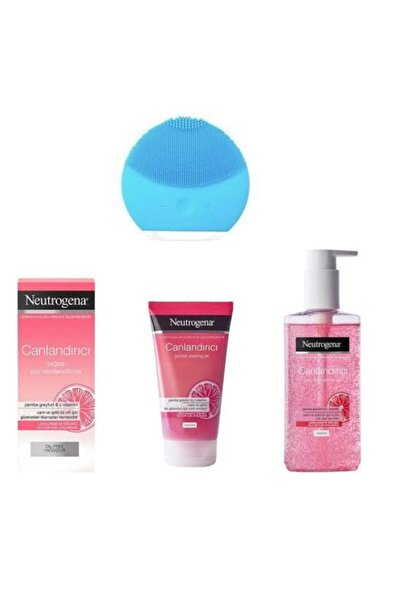 Neutrogena Pembe Greyfurt Canlandırıcı Peeling Jel+nemlendirici+temizleme Jeli Ve Temizleme Aparatı