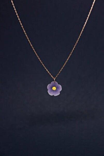 Leylak Elyapımı 24k Rose Altın Kaplama Gümüş Kolye