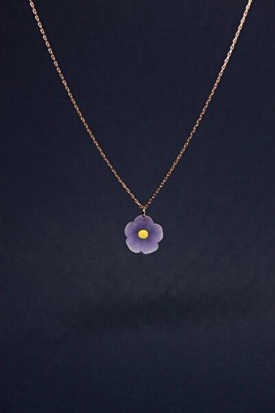 Alegoria Jewellery Leylak Elyapımı 24k Rose Altın Kaplama Gümüş Kolye
