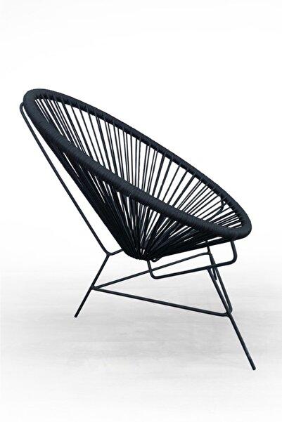 Nestt El Örmesi Bahçe Balkon Çukur Sandalye Mobilya Antrasit
