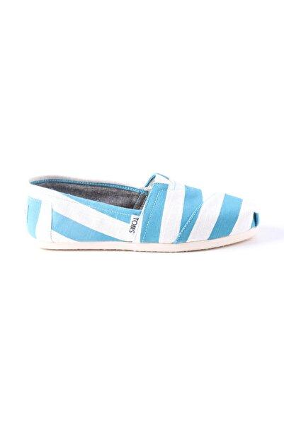 Toms Kadın Beyaz-Mavi Çizgili Ayakkabı