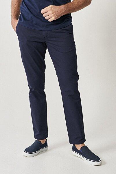 ALTINYILDIZ CLASSICS Erkek Koyu Lacivert Kanvas Slim Fit Chino Pantolon