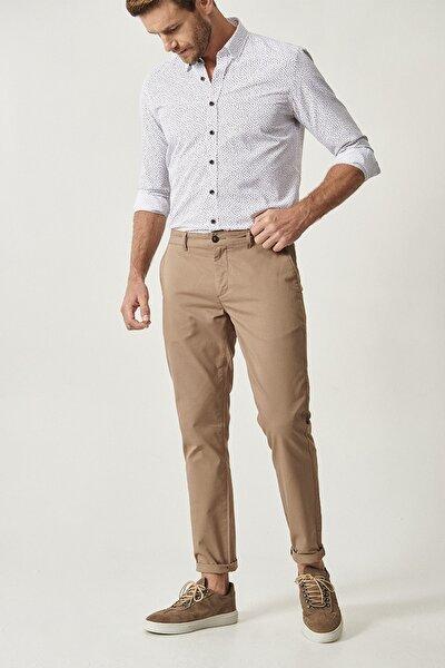 ALTINYILDIZ CLASSICS Erkek Bej Kanvas Slim Fit Chino Pantolon