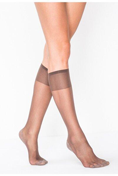Penti Kadın Mürdüm Konfor 15 Denye Tabanı Yarı Parlak Dizaltı Çorabı 3'lü