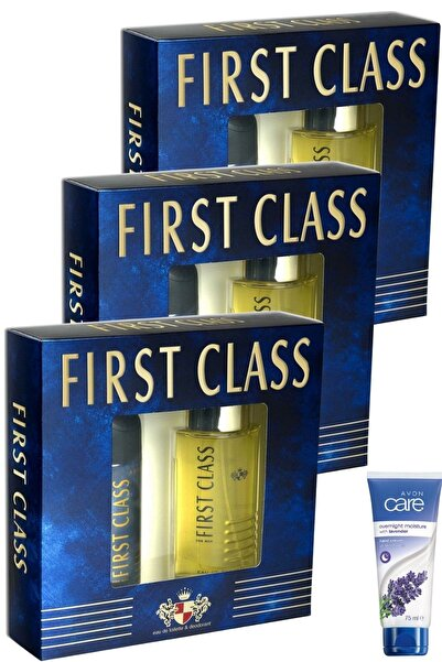 First Class Edt 100 ml Erkek Parfüm + Deodorant 150 ml 3 Adet + Lavanta El Kremi 75ml 6363790045
