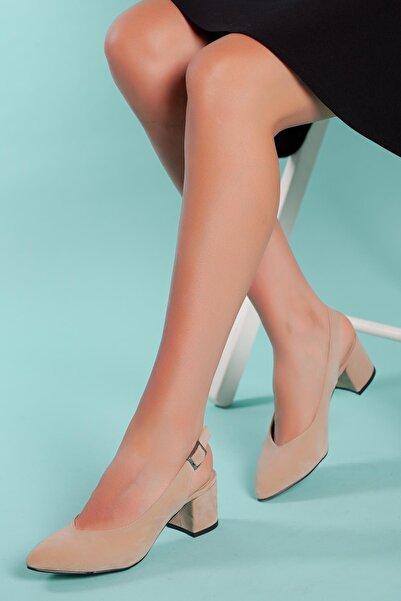 MUGGO Kadın Bej   Ayakkabı Gzhw711