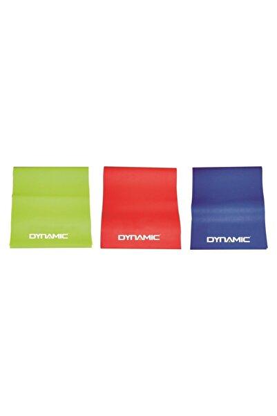 Dynamic 3 'lü Pilates Bandı Pilates Egzersiz Direnç Lastiği Set