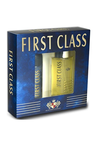 First Class For Men Edt 100 ml  Deo 150 ml Kofre Erkek Parfüm Seti 8690586013642