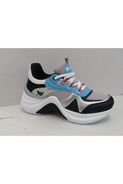 Twingo Kadın Mavi Beyaz Kalın Taban Spor Ayakkabı