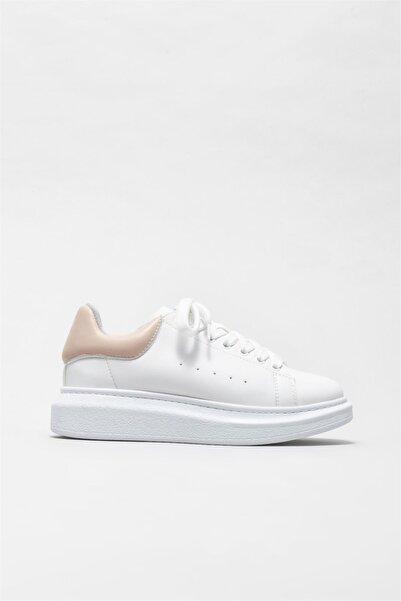 Elle Shoes Kadın Pudra Spor Ayakkabı